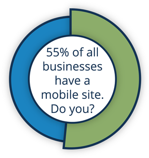 55% of businesses have a mobile website do you?
